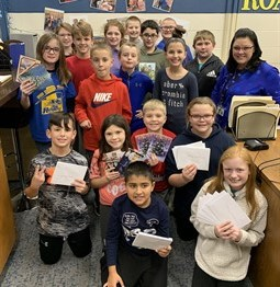 Student Council sent Christmas cards to nursing homes.