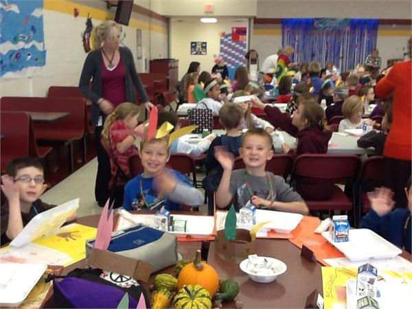 Mrs. Hyden's Class at the Family Feast
