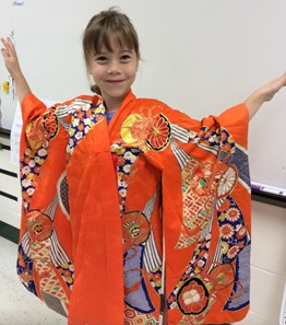Student Participating in Culture Day